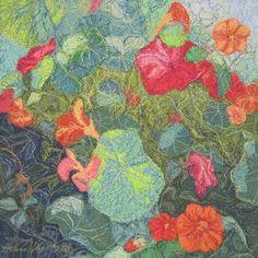 Krassi auringossa, 2007, Helena Vaari, Hollola Finland Freehand Machine Embroidery, Textile Art, Textiles, Quilts, Stitch, Knitting, Finland, Pictures, Felt