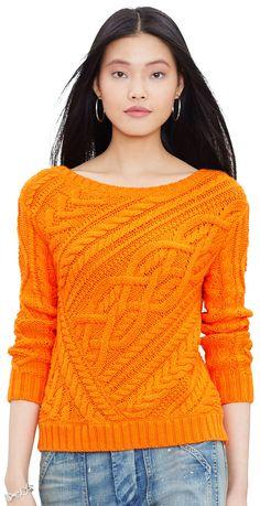 edab86867aff44 Ralph Lauren - Pull en coton torsadé Cable Sweater