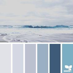 { color shore } image via: The post Color Shore appeared first on Design Seeds. Design Seeds, Colour Pallete, Colour Schemes, Color Palettes, Color Combinations, Wall Colors, House Colors, Interior Paint Colors, Interior Painting