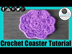 ▶ Crochet Coaster Whip it up Wednesday - YouTube
