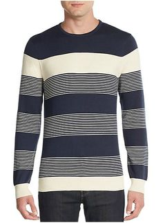 Vince Camuto | Colorblock Striped Cotton & Cashmere Sweater | SAKS OFF 5TH