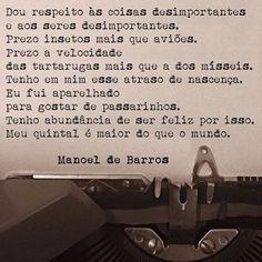 R.I.P Manoel de Barros