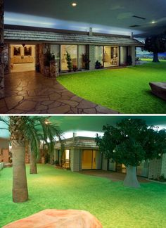 It may look like the 1970's, but this underground bunker home in Las Vegas would make a perfect home!