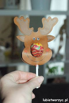Renifer Rudolf z czerwonym noskiem (lizakiem) w wersji DIY! Christmas Diy, Merry Christmas, Christmas Ornaments, Diy And Crafts, Crafts For Kids, Xmas Gifts, Presents, Holiday Decor, Handmade