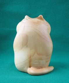 Cat Wooden figurine hand carving by WoodSculptureLodge on Etsy