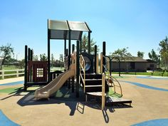 Bumpy slide on the playground for little kids at Mountain View Park in Eastvale, California. http://youreastvalerealtor.com/eastvale-parks/