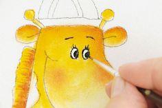 Lençol decorado com pintura de girafinha - Portal de Artesanato - O melhor site de artesanato com passo a passo gratuito