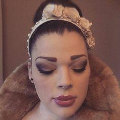 Bridal silk flowers and pearl headband by CloudofJudgement on Etsy