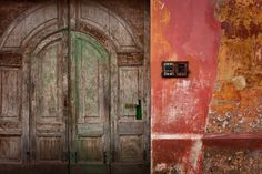 door in unknown country, captured by aid worker