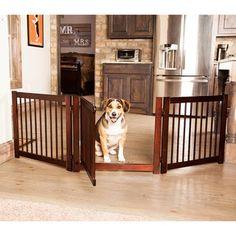 Primetime Petz 360 Configurable Dog Gate with Door – Indoor Freestanding Walk Through Wood Pet Gate Dog Gate With Door, Diy Dog Gate, Pet Gate, Puppy Gates, Small Animal Cage, Pet Dogs, Pets, Doggies, Wood Dog