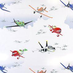 Disney's Planes Charlie - grigio chiaro - Tessuti per bambini - ragazzi - Tessuti Disney - Tessuti arredo per bambini - tessuti.com