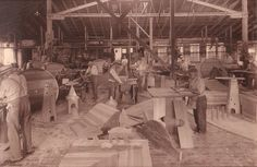 1920s wood working shop