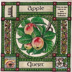 Show details for Ogham Tree Card | Apple Tree Mayday to Halloween