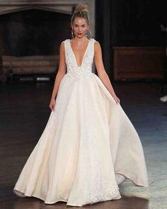 Berta Fall 2017 Wedding Dress Collection | Martha Stewart Weddings – Sleeveless V-neck ball gown wedding dress