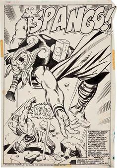 Hercules battles Thor by John Buscema.