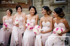 Pink Secret Garden Wedding In Toronto Blush Pink Bridesmaids, Mismatched Bridesmaid Dresses, Wedding Dresses, Elegant Wedding, Floral Wedding, Pink Rose Bouquet, Wedding Styles, Wedding Blog, Garden Wedding