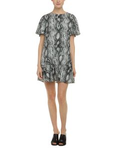 Spotted this Rachel Zoe Nile White & Black Snake Print Ruffled Dress on Rue La La. Shop (quickly!).