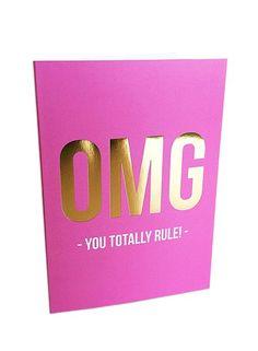 Studio Stationery Greeting card you rule