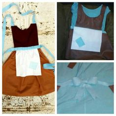 i know its not perfect, but im proud of my hot glue gun&felt skills. cinderellas rags apron ill be wearing for aubreys princess birthday party