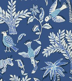 Goa Wallpaper by Thibaut | Jane Clayton