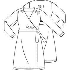 Patroon jurk (PDF-patroon) | Dames | Knipmode naaipatronen Bell Sleeves, Bell Sleeve Top, King Louie, Fabric, Sewing Ideas, Fashion, Tricot, Fashion Styles, Tejido
