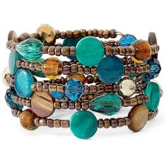 DIY Unique Wrap Bracelets with Various Jewelry Beads Fashion bracelets are available in different styles and materails, and some people like to wear wrap bracelets very much, just like the above bracelet which is created with seed beads, glass beads and shell beads in different colors and types. Do you want to create your own ones? Get the different jewelry beads you like to have a try.