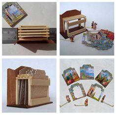 Dolls House Miniature - Wooden Toy Theatre (Fairy Garden). $61.50, via Etsy.