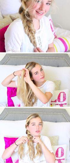 5 Minute Loose Side Braid | 16 DIY Summer Hairstyles for Long Hair | Easy Beach Hairstyles for Long Hair