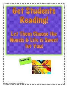 For Independent Novels or Class Novels!! Log for students to use as they read their novels. This reading log packet is a 13 pages... $3.00