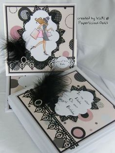 girly easle style card with matching box I Card, Oasis, Girly, Create, Stamping, Creativity, Romance, Fantasy, Box