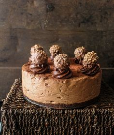 Crunchy bits of Ferrero Rocher Chocolates hiding within a creamy chocolate mousse. Eggless and no-bake Ferrero Rocher Mousse