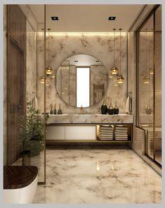 Best Modern Bathroom Tile Inspiration For Your Beautiful Bathroom - Home Decor Modern Bathroom Tile, Bathroom Design Luxury, Bathroom Trends, Diy Bathroom Decor, Home Interior Design, Bathroom Ideas, Master Bathroom, Bathroom Mirrors, Bathroom Cabinets
