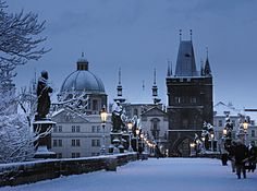 Prague in the winter.  A must do.