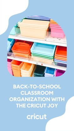 Customize colorful book bins and folders for the school season with the Cricut Joy and Smart Vinyl materials! Get inspired with easy-to-make projects crafted by talented educator and influencer Patrice Jenkins and check out her full list of project tips and tricks on the blog. School Classroom, Classroom Themes, Classroom Organization, Book Bins, School Items, Back To School Supplies, School Shopping, New School Year, Dry Erase Board