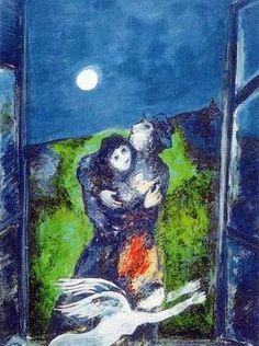 M. Chagall -  Amanti al chiaro di luna