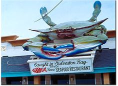 Gaido's Restaurant, Galveston, Texas I remember seeing this same crab when I was very young. It's one of the memories of my childhood
