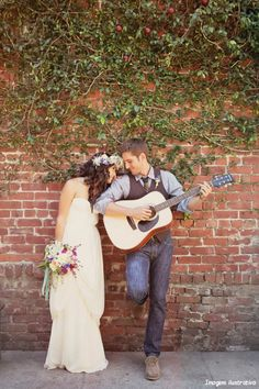 love the guitar being in on the wedding photos!
