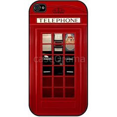 Vintage London British Phonebooth iPhone 4 case, iPhone 4S case - Featured in LAVIVA ($17) found on Polyvore