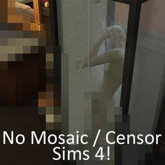 No Mosaic / Censor Mod by moxiemason at Mod The Sims via Sims 4 Updates