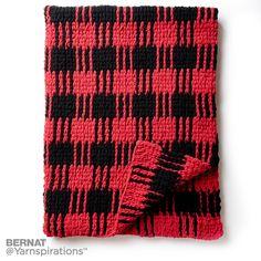 Crochet Buffalo Plaid Afghan