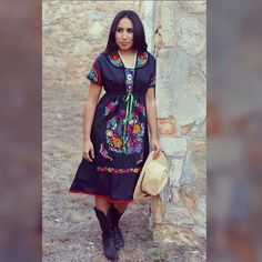#embroidered #fiesta #dress by #pridarodriguezstudios #mexicolor #colorful #folkloric #mexicolor