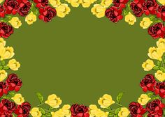 Today I'm sharing this free digital red and yellow flower frame png with transparent background with you. I've drawn the flowers by my...