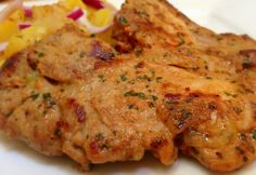 Mustáros tarja hagymás krumplival Pork Recipes, Vegetarian Recipes, Chicken Recipes, Cooking Recipes, Hungarian Cuisine, Hungarian Recipes, Hungarian Food, Breakfast Lunch Dinner, Breakfast Time