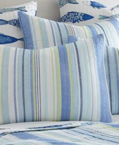 Levtex Home Catalina Fish Full/Queen Quilt Set - Blue King Quilt Sets, Queen Quilt, Water Pillow, Fish Patterns, Quilted Bedspreads, Twin Quilt, Pillow Shams, Bedroom Decor, Bedroom Ideas