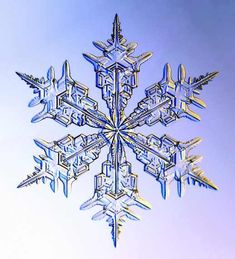 Snowflakes are ice-crystals, a particular form of water ice .Ice-crystals are appear as clear glass but more fragile. Several factors affect snowflake formation. Snowflake Images, Snowflake Tattoos, Snowflake Stencil, Simple Snowflake, Snowflake Designs, I Love Snow, Fotografia Macro, Ice Crystals, Things Under A Microscope