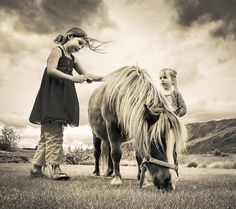Study shows that being around horses has a positive effect on a child's life