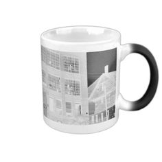 Abandoned Manufacturing Building - negative Coffee Mug • This design is available on t-shirts, hats, mugs, buttons, key chains and much more • Please check out our others designs