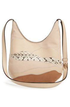 c47a208b52  Landscape  Patchwork Leather Small at leather highlighted with genuine  snakeskin creates a stunning landscape effect on a sumptuous hobo bag sized  just ...