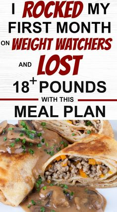 This is the exact Weight Watchers meal plan I followed for 4 weeks and I lost over 18 pounds. I ate 3 amazing meals a day, 2 snacks and 1 dessert - and believe me the serving sizes were unreal. I have all of the meals and the recipes I used right here so you can lose weight too. Also, I didn't exercise once. #ww #weightwatchers #smartpoints