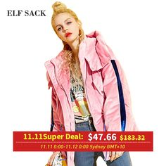 ELF SACK Winter Velvet Fabric Cotton Padded Jacket 2017 Womens Plus Size Waisted Cotton Clothes Stitching Hooded Winter Coats Click picture for details Hooded Winter Coat, Winter Coats, Jacket 2017, Cotton Pads, Padded Jacket, Elf, Hoods, Stitching, Velvet